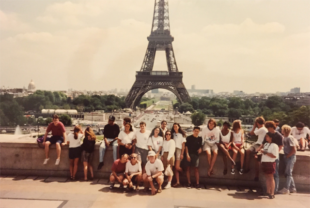 1992: Our study abroad group wrapped up the experience with a weekend in Paris.